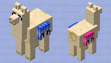 Lama with girls Minecraft Mob Skin