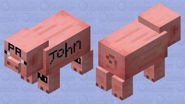 Tatued pig Minecraft Mob Skin