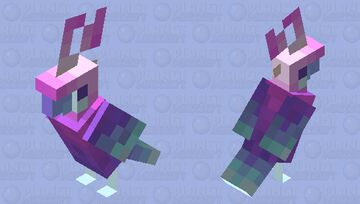 Retro Parrot! Minecraft Mob Skin