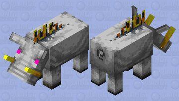 Gray Hoglin Minecraft Mob Skin