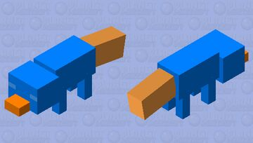 Perry The Platypus (sleeping) Minecraft Mob Skin