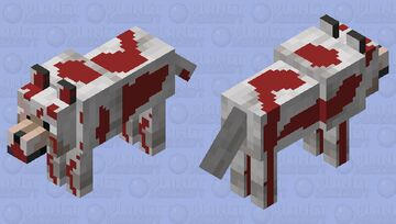 Lonely Wolf Tortured Leave a heart to help him Minecraft Mob Skin