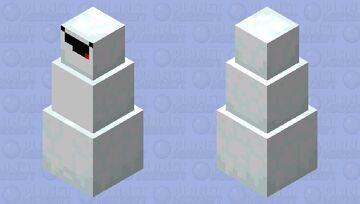 Derp snowman Minecraft Mob Skin