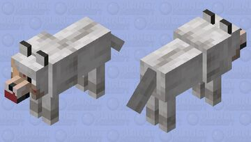 Lonely Wold (Just Ate) Minecraft Mob Skin