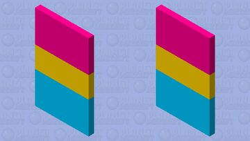Pansexual Flag Cape Minecraft Mob Skin