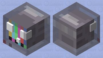 Just a TV head slime (•⊙ω⊙•) Minecraft Mob Skin