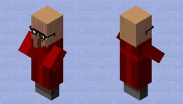 Red suit villager w/ glasses Minecraft Mob Skin