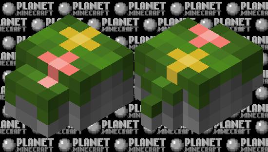 Mossy rock pile w/ flowers Minecraft Skin