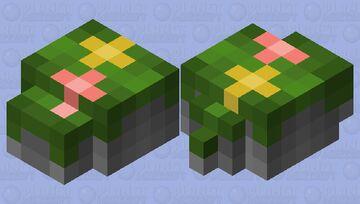 Mossy rock pile w/ flowers Minecraft Mob Skin