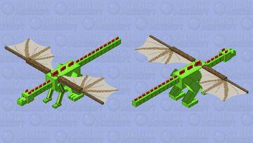 DinowCookie with Makeshift Glider Minecraft Mob Skin