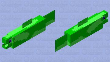 Green Moray(Eel) Minecraft Mob Skin