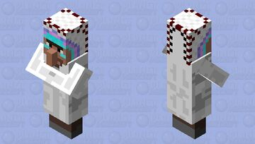 Villager Native American Indian Chief Minecraft Mob Skin