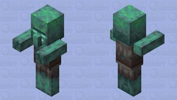 Zombie Villager Drowned Minecraft Mob Skin