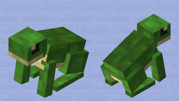 Green Frog: Winterhaven Amiable Animals Minecraft Mob Skin