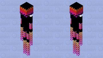 Pixel Enderman Minecraft Mob Skin