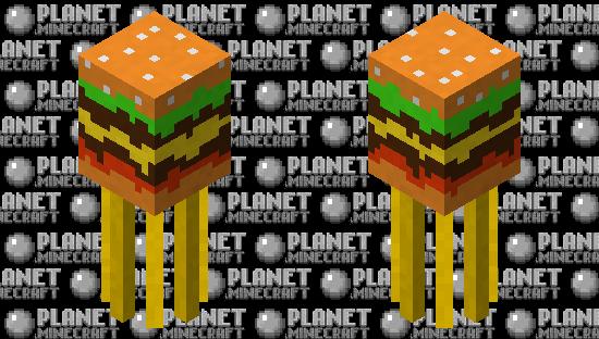 Burger squid with fries Minecraft Skin