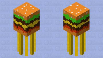 Burger squid with fries Minecraft Mob Skin