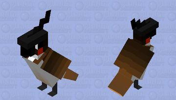 Red-whiskered Bulbul Minecraft Mob Skin