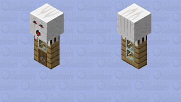 Baby Ghast carrying house Minecraft Mob Skin
