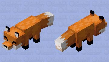 simple fox Minecraft Mob Skin