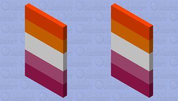 Lesbian Flag Cape Minecraft Mob Skin