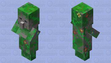Overgrown Villager Statue (Nature Walk Community Event) Minecraft Mob Skin