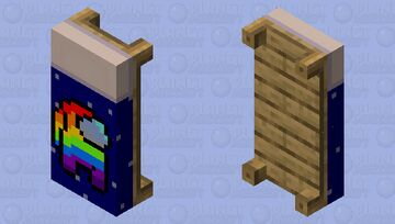 Among Us Rainbow Player Bed Minecraft Mob Skin