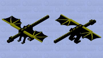 Black Widow (Wings of fire Dragon) Minecraft Mob Skin