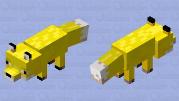 Banana Fox Minecraft Mob Skin
