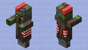 Corrupted Zombie Villager (Bitten) Minecraft Mob Skin