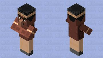 Villager Native American Indian Minecraft Mob Skin