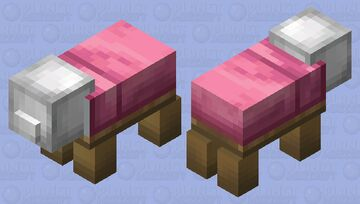Bed Pig Minecraft Mob Skin
