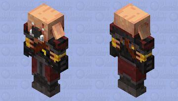 Hoglin Hunter Minecraft Mob Skin