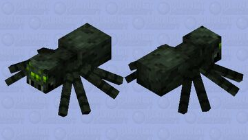 Stronghold Cave Spider Minecraft Mob Skin