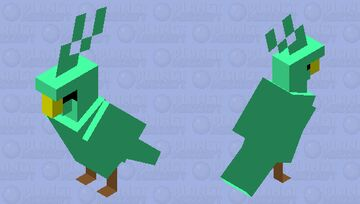 green water parrot Minecraft Mob Skin
