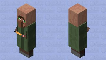 Confused villager Minecraft Mob Skin