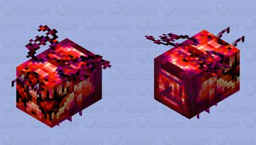 Hellfire Bee From the Nether Minecraft Mob Skin