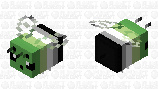 Aromantic Flag Bee Minecraft Skin