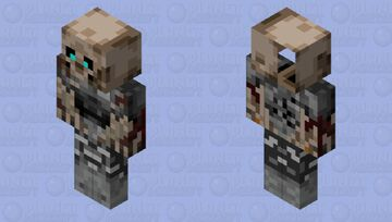 Piglin Draugr Minecraft Mob Skin