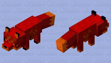 red nether fox Minecraft Mob Skin