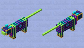neon cyberpunk cat (cybery the cyber cat) Minecraft Mob Skin