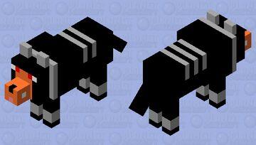 Houndoom Wolf Minecraft Mob Skin