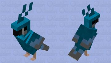 Blue and gray parrot Minecraft Mob Skin