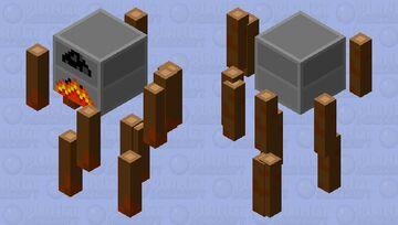 Furnace blaze v2 Minecraft Mob Skin
