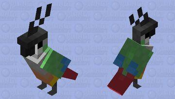 """""""Greener"""" Green cheek conure (edit) Minecraft Mob Skin"""