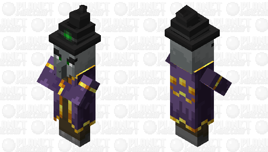 The Witch illager Minecraft Skin