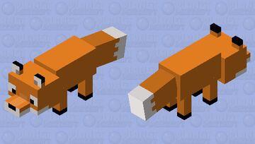 Silly Fox Minecraft Mob Skin