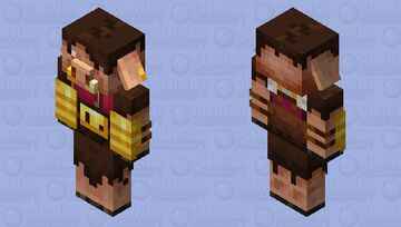 Piglin Merchant Minecraft Dungeons Flames of The Nether (Remade) Minecraft Mob Skin