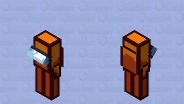 Among us orange / crewmate / low resolution / remade Minecraft Mob Skin