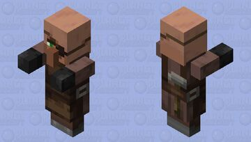 Villager Plains Weaponsmith With Arms 1.14 Minecraft Mob Skin